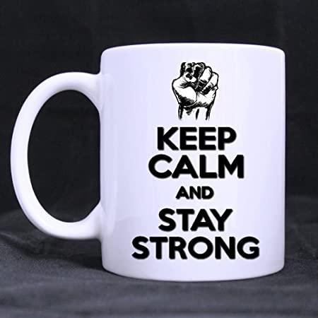 Discount Ceramic Mug Keep Calm and Stay Strong White-11