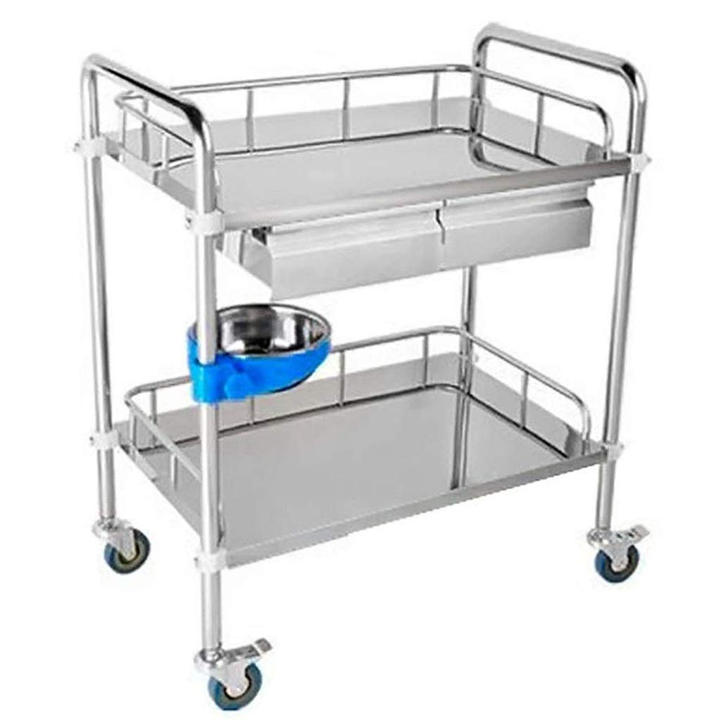 100%正規品 実用的な厚いステンレス鋼の貯蔵のカート2の層の棚 :、スペースを節約するための車輪が付いている美装置車の棚/サービスカート (サイズ さいず : 80*48 (サイズ*86cm) さいず B07QKCS4NX 66*44*86cm 66*44*86cm, シカツチョウ:ea5492d3 --- arianechie.dominiotemporario.com
