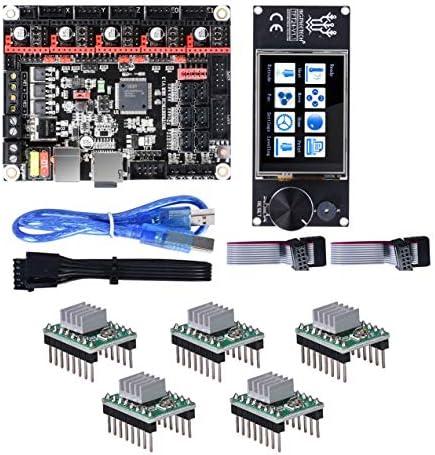 LWQJP 3Dプリンター部品のBIGTREETECH SKR 32ビットコントローラボードV1.3 + TFT24のタッチスクリーン+の5pcs A4988ステッピングドライバキット