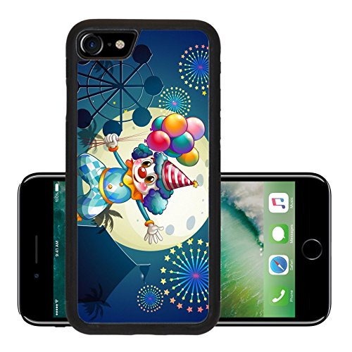 Cute Circus Costumes Ideas (Luxlady Premium Apple iPhone 7 Aluminum Backplate Bumper Snap Case iPhone7 IMAGE 22836571 Illustration of a clown with balloons standing in front of the carnival)