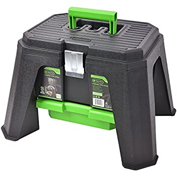 Amazon Com Tactix Storage Step Stool Green Home