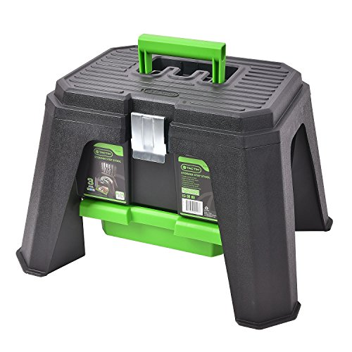 Tactix Storage Step Stool (Green) by Tactix