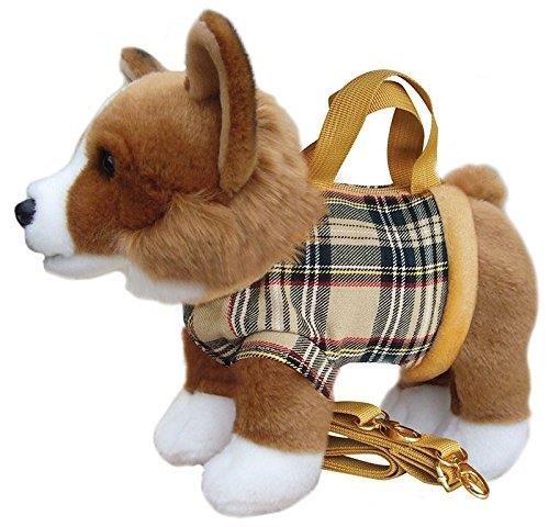 Corgi Handbag Cute Plush Soft Dog Shoulder ()