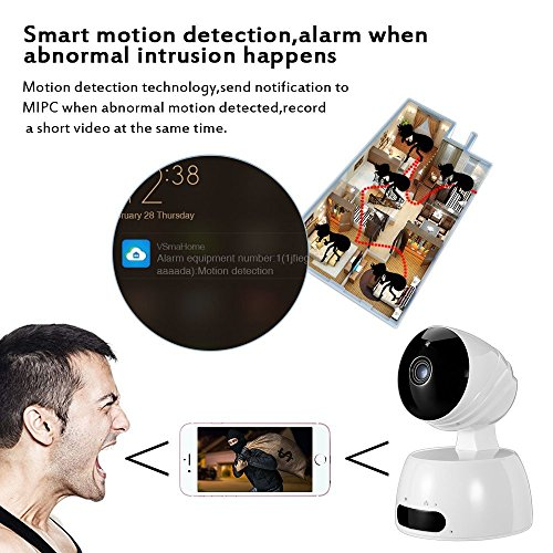 Security Camera Wireless WiFi IP Surveillance System Camera Home Monitor  with Motion Detection Two Way Audio,1080p HD Night Vision