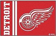 "FANMATS 19262 Detroit Red Wings Uniform Starter Rug, Team Color, 19"""