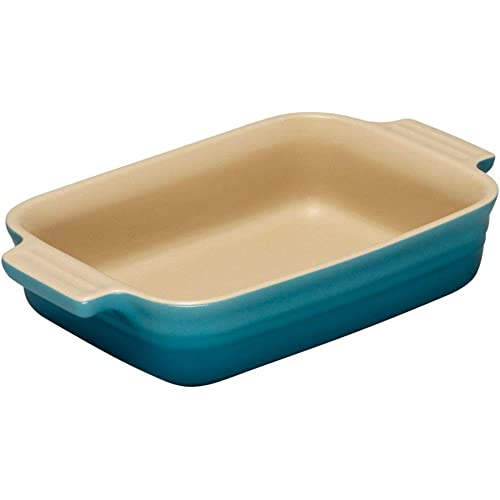 Le Creuset Stoneware Teal Rectangular Dish, 32 cm
