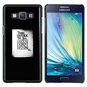LECELL--Funda protectora / Cubierta / Piel For Samsung Galaxy A5 A5000 -- pensar fuera de la caja de cartel inspirador --