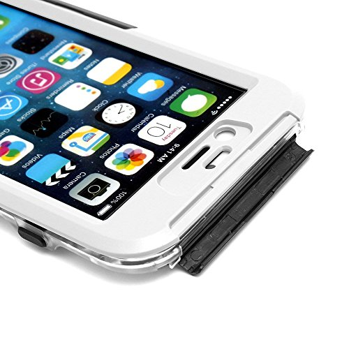 iProtect Apple iPhone 6, 6s (4,7 Zoll) wasserdichtes Outdoor Case Schutzhülle ultradünn in weiß