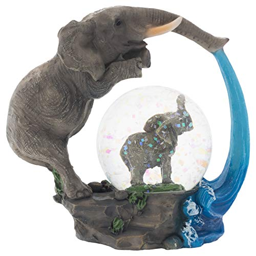- Elanze Designs Elephant Bath time Fun Figurine 45MM Glitter Water Globe Decoration