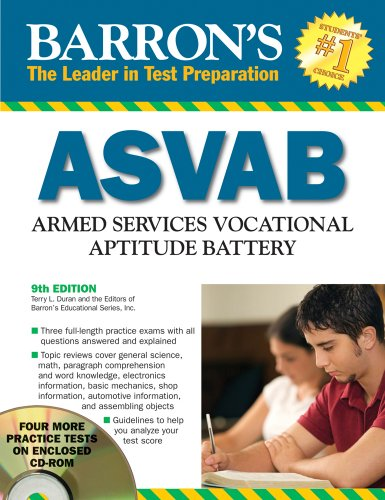Barron's ASVAB with CD-ROM (Barron's ASVAB Armed Services Vocational Aptitude Battery)