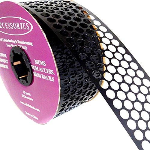 ACI PARTY AND SPIRIT ACCESSORIES Honeycomb/Punchinella Ribbon, Black