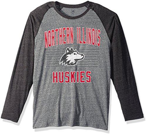 (J America NCAA Northern Illinois Huskies Men's AAA Tee Baseball Tee, Medium, Graphite Heather)