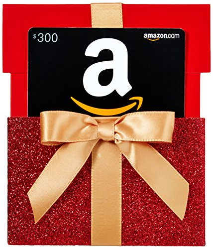 - Amazon.com $300 Gift Card in a Gift Box Reveal (Classic Black Card Design)