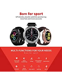 Microwear L1 1.3inch GPS Compass Altitude Blood Pressure Heart Rate Monitor Bluetooth Smart Watch
