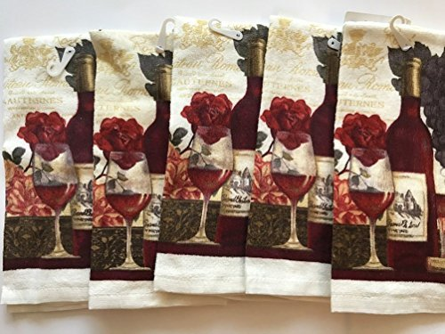 Wine Lovers Themed Kitchen Towels Towel Pack of 5 by Mainstay