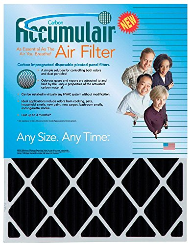 Rodgers Furnace Filters White (Accumulair Carbon 14x30x1 (13.5x29.5) Odor eliminating Air Filter/Furnace Filter)