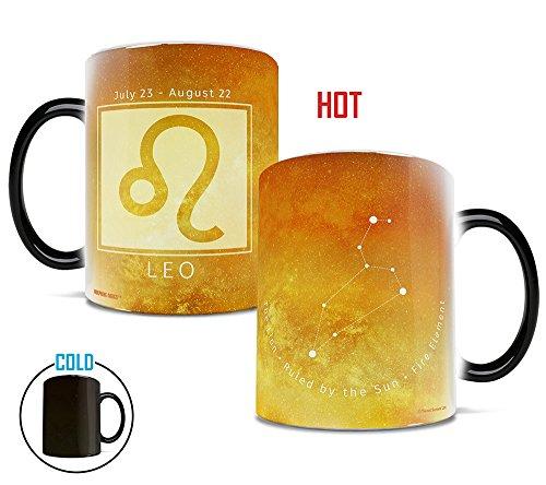 (Morphing Mugs Birthday Zodiac Sign (Leo) Heat Reveal Ceramic Coffee Mug - 11 Ounces Yellow)