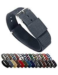 BARTON Watch Bands - Choice of Color, Length & Width (18mm, 20mm, 22mm or 24mm) - Smokey Grey 22mm Width