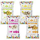 Taali Variety Pack Water Lily Pops (4-Pack) - Four Delicious Flavors | Protein-Rich Roasted Snack | Non GMO Verified - 2.3 oz Multi-Serve Bags