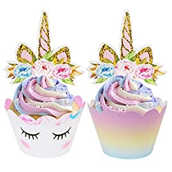 COMPLEMENT ALL THE DELICIOUSNESS WITH ADORABLENESSTransform those cupcakes from mere pastries into cute compliment magnets!The ecoZen unicorn cupcake decorations set is designed with little girls and wonderstruck looks in mind. Every set comes with 3...
