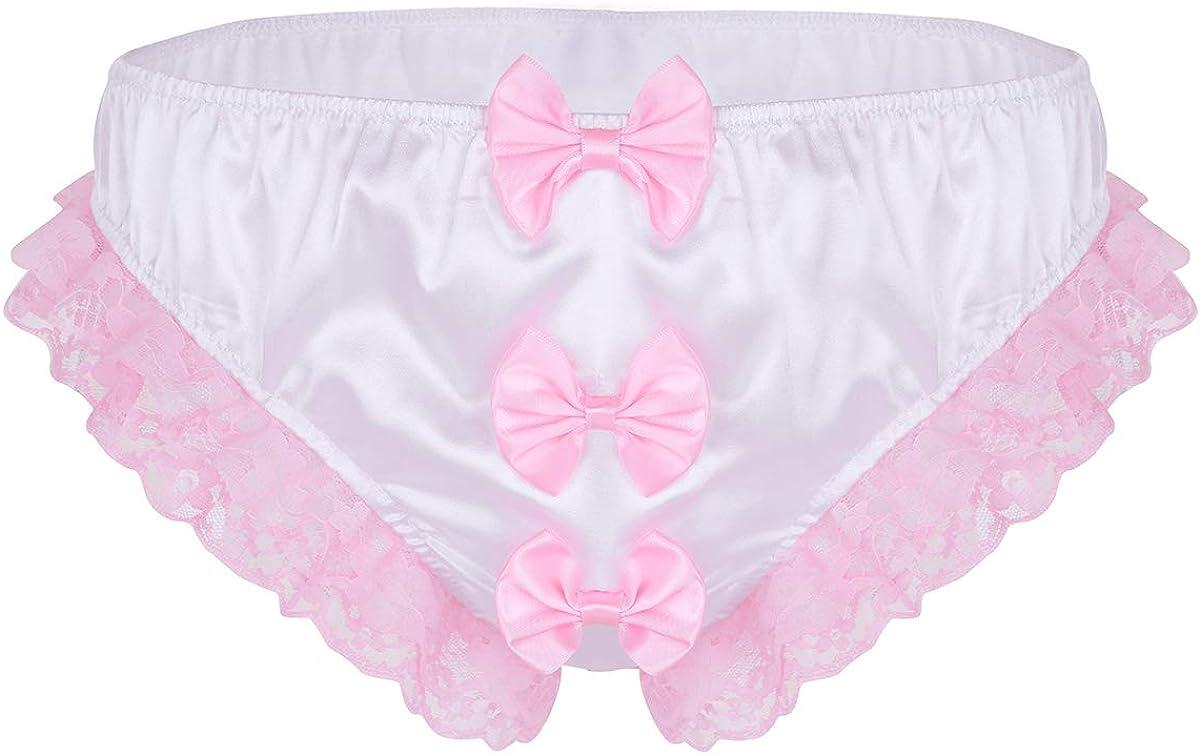Material Girl Lace Ruffle Bikini Panties Women/'s Small,Medium