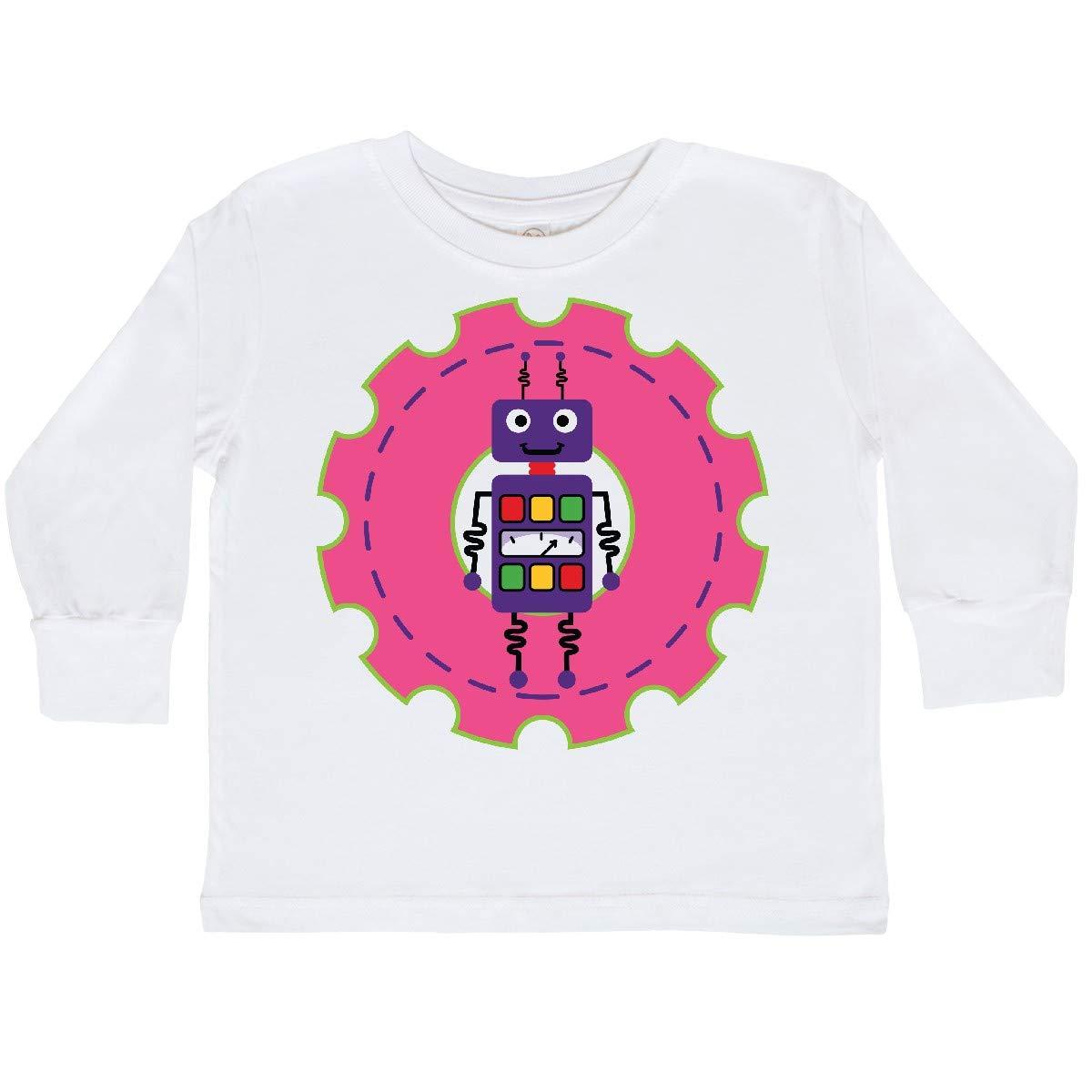 inktastic Robot Girls Science Engineering Toddler Long Sleeve T-Shirt