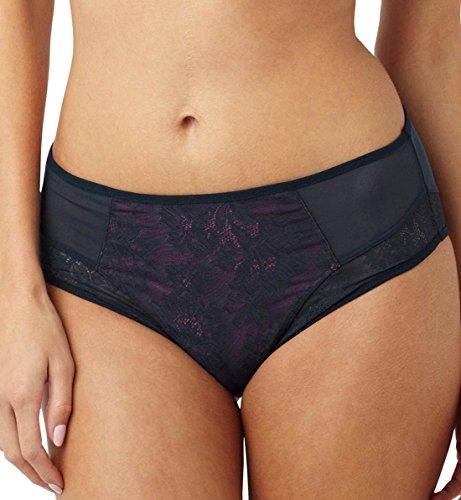 Panache Women's Plus Size Idina Brief Panty, Navy/Pink, ((12) Medium ()
