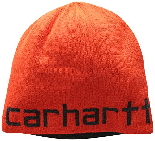 Hat Winter Knit Reversible - Carhartt Men's Greenfield Reversible Hat, Brite Orange One Size