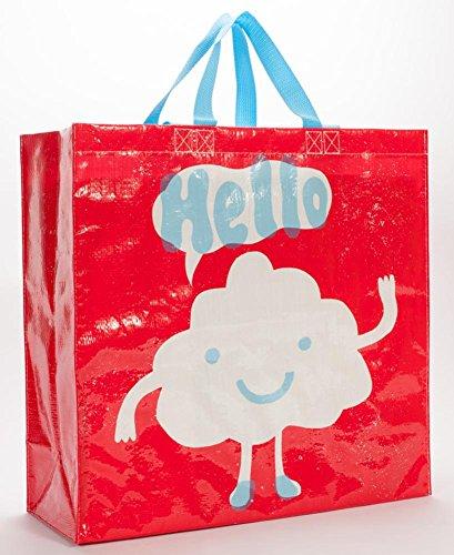Hello Shopper Tote Bag 16 x 15in