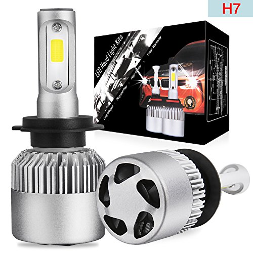 LED Headlight Bulbs Conversion Kit OFFROADTOWN H7 OSRAM Chip 10000 Lumen Extremely Bright 100w Cool White 6000K