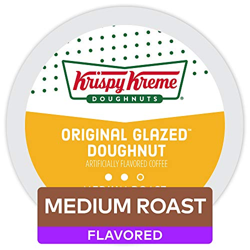 Krispy Kreme Original Glazed Doughnut Coffee, Single-Serve Keurig K-Cup Pods, Flavored Coffee, 72 Count