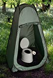 LIVIVO Lightweight and Portable 5L Camping Toilet with Instant Pop Up Privacy Tent – Toilet Complete with Seat, Lid, Handles and Roll Holder