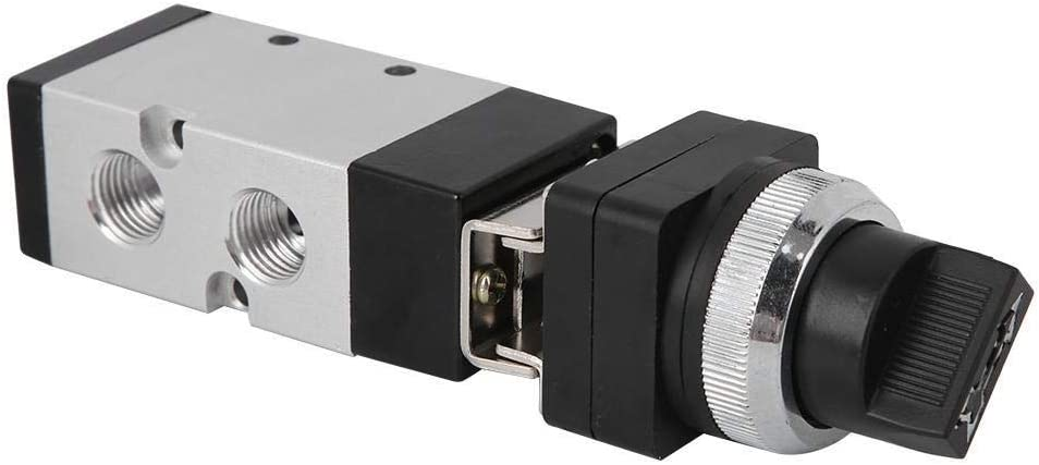 Beennex MSV86522-TB 2-Position 5-Way Mechanical Button Valve Switch Valve for Pneumatic System