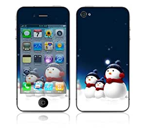 DecalSkin Apple iPhone 4 Skin Cover - Blue Star
