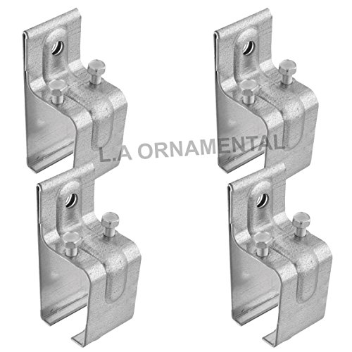 Wall Mount Heavy Duty Galvanized Track Single Box Rail Splice Bracket Lot 4 Splice Bracket