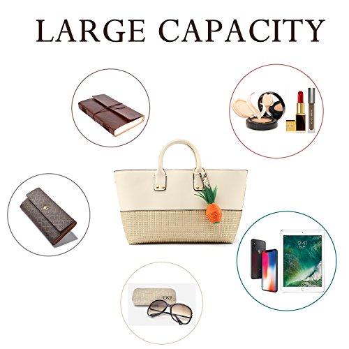 Gift Beige Handbags with with for Leather Orange Designer Fashion Summer Clutch Shoulder PU Ladies Women a Bag Top Strap Zip Tote Handbags Adjustable Medium handle Handbags qRS6t