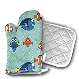 Springs Creative All Smiles Yourtablecloth Set of Oven Mitt and Pot Holder Or Oven Gloves-100% Cotton, High Heat Resistance, Superior Protection & Comfort¨CElegant Design