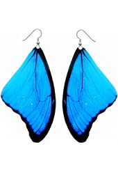 Real Butterfly Wing Earrings - **Large Size** - Anniversary, Birthday, Special Occasion