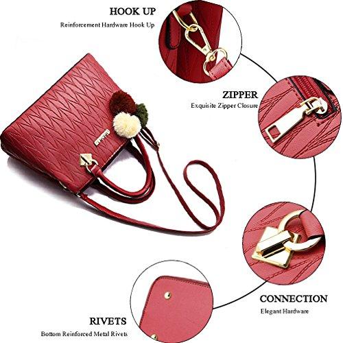 Red 8 Satchel Bag Womens Shoulder Ladies Bags COCIFER Tote Purses and Handbags Crossbody TSWqPaw