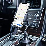 Amoner Car Cup Holder Phone Mount,Universal Cell Phone Holder Mount Cradle Compatible with iPhone Xs/Max/X/XR/ 8/8 Plus, Samsung Note 9/ S10+/ S9/ S9+/ S8 and Other 3.5-6.5 inch Smartphones