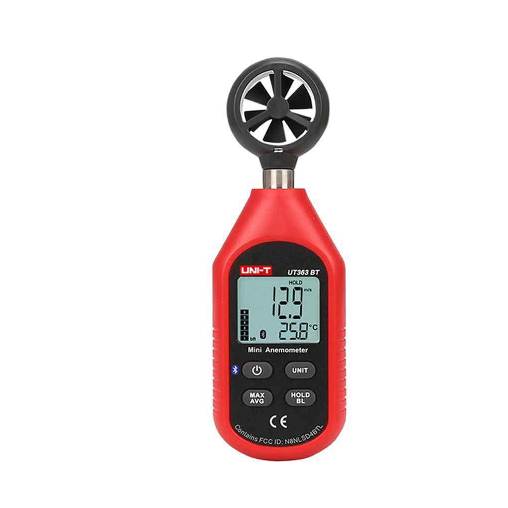 Ben-gi Uni-T UT363BT Bluetooth Anem/ómetro Digital 0-30m s de Alta precisi/ón la Velocidad del Viento del term/ómetro del Metro