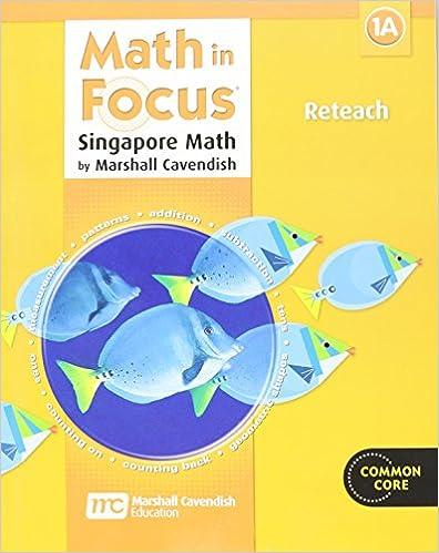 Amazon.com: Math in Focus: Singapore Math: Reteach, Book A Grade 1 ...