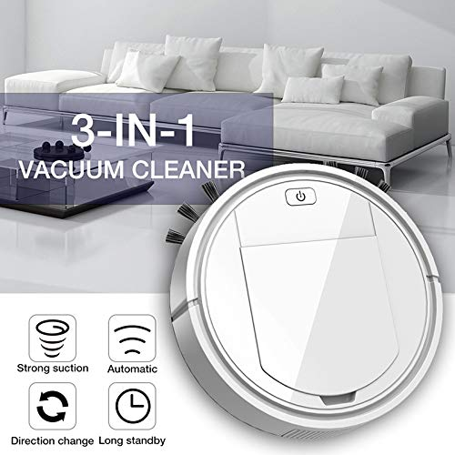Dušial Mini Sweeping Robot Vacuum Cleaner Vacuum and Mop Robotic Cleaner for Pet Hair Hard Floor Carpet