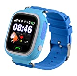 Smartwatch for Kids Girls Boys AVSV GPS Tracker SIM Calls Anti lost Phone Pedometer SOS Route Tracker Touch Screen Geo fence Smartwatch Bracelet for iPhone Android ( Sim card required, not included)