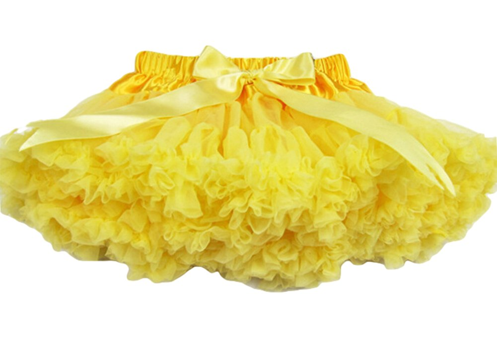 Dobelove Girl's Dress Up Fairy Princess Party Tutu Petticoat Skirts (Yellow)