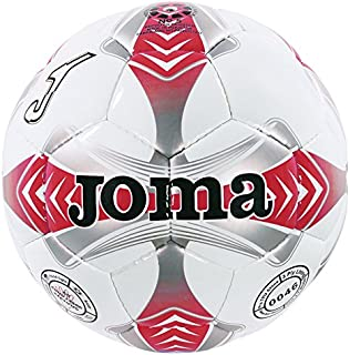 JOMA EGEO 4 WHITE-RED-GREY SOCCER BALL T4 EGEO.4.T4
