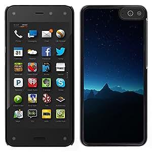 Las montañas y el cielo - Metal de aluminio y de plástico duro Caja del teléfono - Negro - Amazon Fire Phone