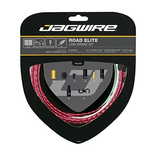 Jagwire Road Elite Link Brake Cable Kit Red, One Size by Jagwire
