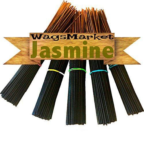 WagsMarket Premium Hand Dipped Incense Sticks, You Choose The Scent. 100-12in Sticks. - Jasmine Stick