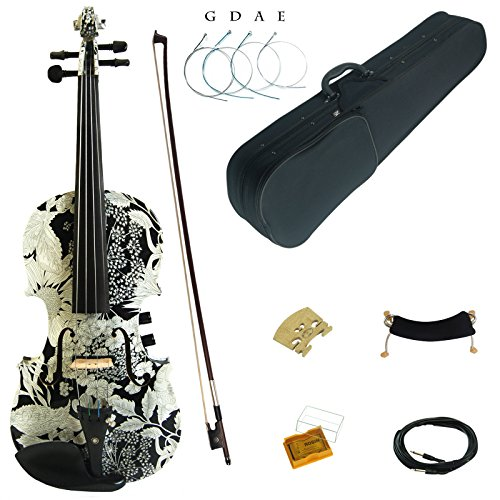 kinglos-4-4-colored-solid-wood-acoustic-electric-violin-kit-with-ebony-fittings-full-size-ysds1310